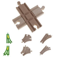 Wood Wooden Train Track Expansion Switch Crossing Track Railway Games Toy New