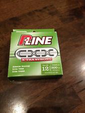 New P-Line Cxx Xtra Strong 12 Lb. Fishing Line 300 Yds Moss Green Nib