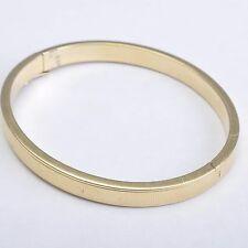 Oval Gold bangle / Bracelet, 14 Carat / 585 Yellow Gold, zisieliert, 19,9 Gram