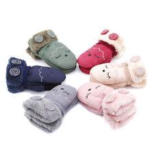 1Pair Cartoon Cat Smile Winter Warm Mittens Gloves For Kids Child Supplies SG