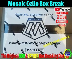 Los Angeles Chargers 2020 Mosaic Cello Football Box Break Mosaic Cello Sealed K