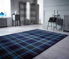 Tartan Glen Kilry Blue  Rugs - Modern Tartan Design In - 3 SIZES - Cheap Prices