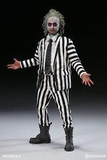 "SIDESHOW BEETLEJUICE 12"" inch 1/6  Figure Michael Keaton Betelgeuse Tim Burtons"