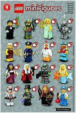 LEGO Figurine Minifigure Serie 9 - 71000 - Au choix - 100% Lego