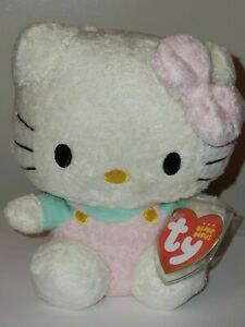 Ty Beanie Baby - HELLO KITTY (PINK FUZZY) - MINT with MINT TAGS - RETIRED