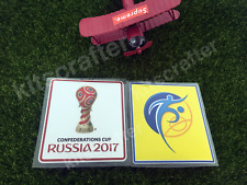 Confederation Cup 2017 Soccer Sleeve Patch Set Kit Germany Chile Portugal Russia
