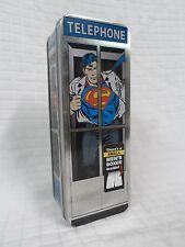 "NEW Men's SUPERMAN Pajama Boxers Size Small (S) 28-32"" w/Super man telephone tin"