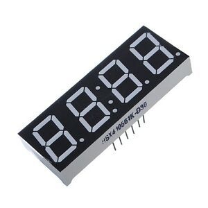 """2PCS 0.56"""" 4 Digit Super Red LED Display Common Anode with Time Display 12 Pins"""