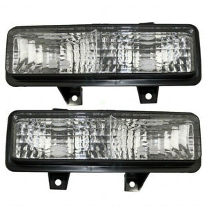 Fits Chevy Blazer Signal Light 1989-1991 Pair LH & RH Side GM2520130 + GM2521130