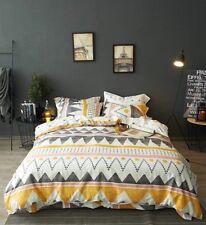 King Modern Boho Tribal Bedding Aztec Stripe Print Cotton Duvet Quilt Cover Set