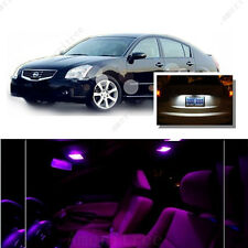For Nissan Maxima 2004-2008 Pink LED Interior Kit +Xenon White License Light LED