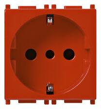 VIMAR 14209.R - PRESA SECURY 2P+T 16A STANDARD ITAL. P30 SERIE PLANA ROSSO