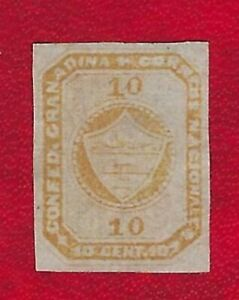 Colombia *4a 10 cents small thins Scott $140.00