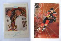 1995-96 Leaf 8 of 8 Bure/ Mogilny 6457/10000 freeze frame  canucks