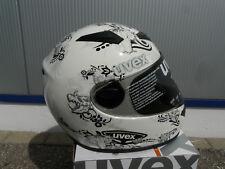 Motorradhelm  Uvex Uvision weiss schwarz-silber shiny   Neu M  sehr leicht
