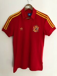 RARE SPAIN ESPANA 1982 RETRO REPLICA HOME FOOTBALL SOCCER SHIRT CAMISETA ADIDAS