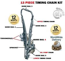 FOR SEAT LEON 1.8 TSI 160BHP CDAA 2007-> NEW UPPER + LOWER TIMING CHAIN KIT