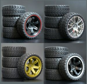 1/10 Onroad Rc Car Wheel & Rubber Tires For Hpi Rs4 Sprint2 Kyosho Pureten Fazer