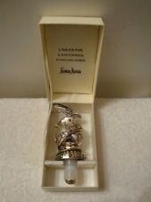 Neiman Marcus 2003 Peace Hope Bottle Stopper Silverplate Dove Bird Figural Globe