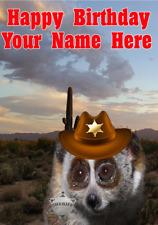 Lento Loris j773 Vaquero Sheriff Divertido Lindo Personalizado De Cumpleaños Tarjeta