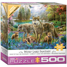 Wolf Lake Fantasy - 500 Piece Jigsaw Puzzle - Eurographics