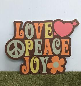 Love Peace Joy Hippy Festival 60's Retro Party Sign Event Prop Decoration