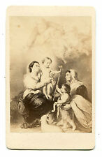 LA VIERGE DE SEVILLE BY MURILLO. CDV OF ARTWORK.