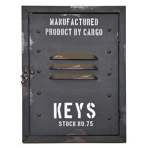 Schlüsselkasten Retro Spind Schlüsselhalter Vintage Schulspind Keyrack alt