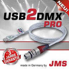 Usb2dmx Pro JMS 512 DMX Canaux Contrôleur USB interface pour PC Ordinateur Portable &