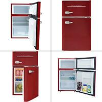 retro 3.2 cu. ft. 2 door mini fridge in red | refrigerator office dorm magic new