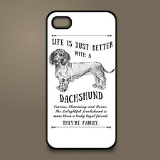 Dachshund sausage dog phone case cover Apple iPhone Samsung Galaxy Personalised