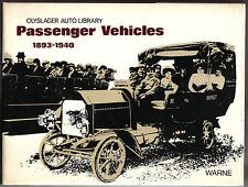 Passenger Vehicles 1893-1940 Olyslager Auto Library Series 1973 AEC to Vomag