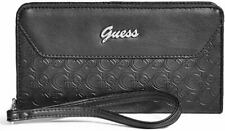 🔥🔥 Guess Logo Large Zip Around Wallet Purse Clutch New Black BNWT Desiner 🔥🔥
