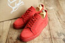 Men's Christian Louboutin Red Suede Junior Flat Sneakers Trainers UK 8 EU 42