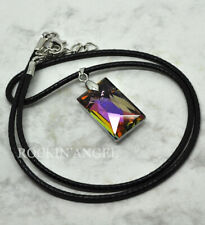 Purple Rainbow Austrian Crystal Pendant or Choker Necklace Ladies Gift Reiki