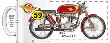 "DUCATI 175cc FORMULA 3 ROAD RACING MOTORCYCLE ""HIGH DETAILED"" IMAGE COFFEE MUG"