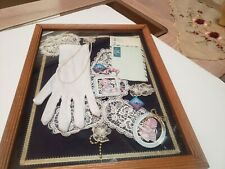 VINTAGE VICTORIAN COLLAGE - SHABBY CHIC  ROMANTIC MEMORABILIA - FRAMED