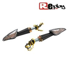2 CLIGNOTANTS REPLAY MINI EYES UNIVERSEL TRANSPARENT/NOIR A LED MAXI SCOOTER