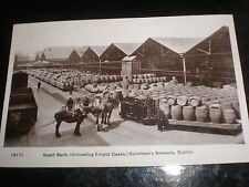 Old postcard Scald Bank Guinness Brewery Dublin Ireland used 1909