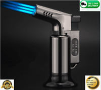 Triple Torch cigar cigarette Turbo Lighter For BBQ With  Jet Flame Gas Spray Gun