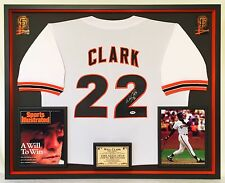 Premium Framed Will Clark Autographed San Francisco Giants Jersey - PSA COA