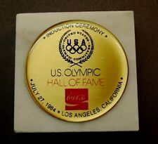 COCA-COLA 1984 Olympic Induction Ceremony Comemorative Paper Weight Los Angeles