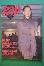 GAP ITALIA APRILE 1987 N.128 FASHION MODA MILANOVESTEMODA FILATI TESSUTI MODIT