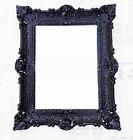 MIROIR MURAL ANCIEN BAROQUE RENAISSANCE 56x46 noir / Blanc