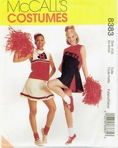 McCalls 8383 Misses Teens School Cheerleader COSTUME pattern UNCUT FF NEW