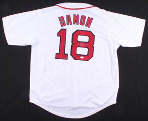 Johnny Damon Signed Boston Red Sox Home Jersey (JSA Holo) 2×World Series Champ