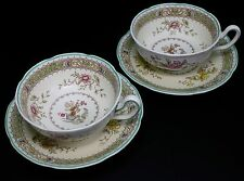 Royal Doulton Lillian Scalloped v1022 Two Cups and Two Saucers