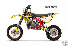 Dirt Bike Graphics Kit decal Sticker Wrap For Cobra CX50 2007-2012 CAMOPLATE YLW