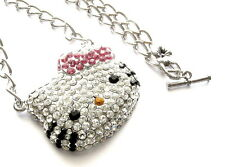HELLO KITTY NECKLACE SWAROVSKI CRYSTAL XLARGE