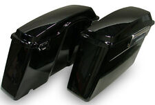 Black Touring Hard Saddlebags for Harley Road King Glide Electra w/Lid & Latch